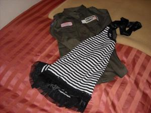 Skjorte og KORT kjole fra Rose Fan Fan! En sånn skjorte har jeg sett DRITLENGE etter, hylte nesten når jeg så den, haha.